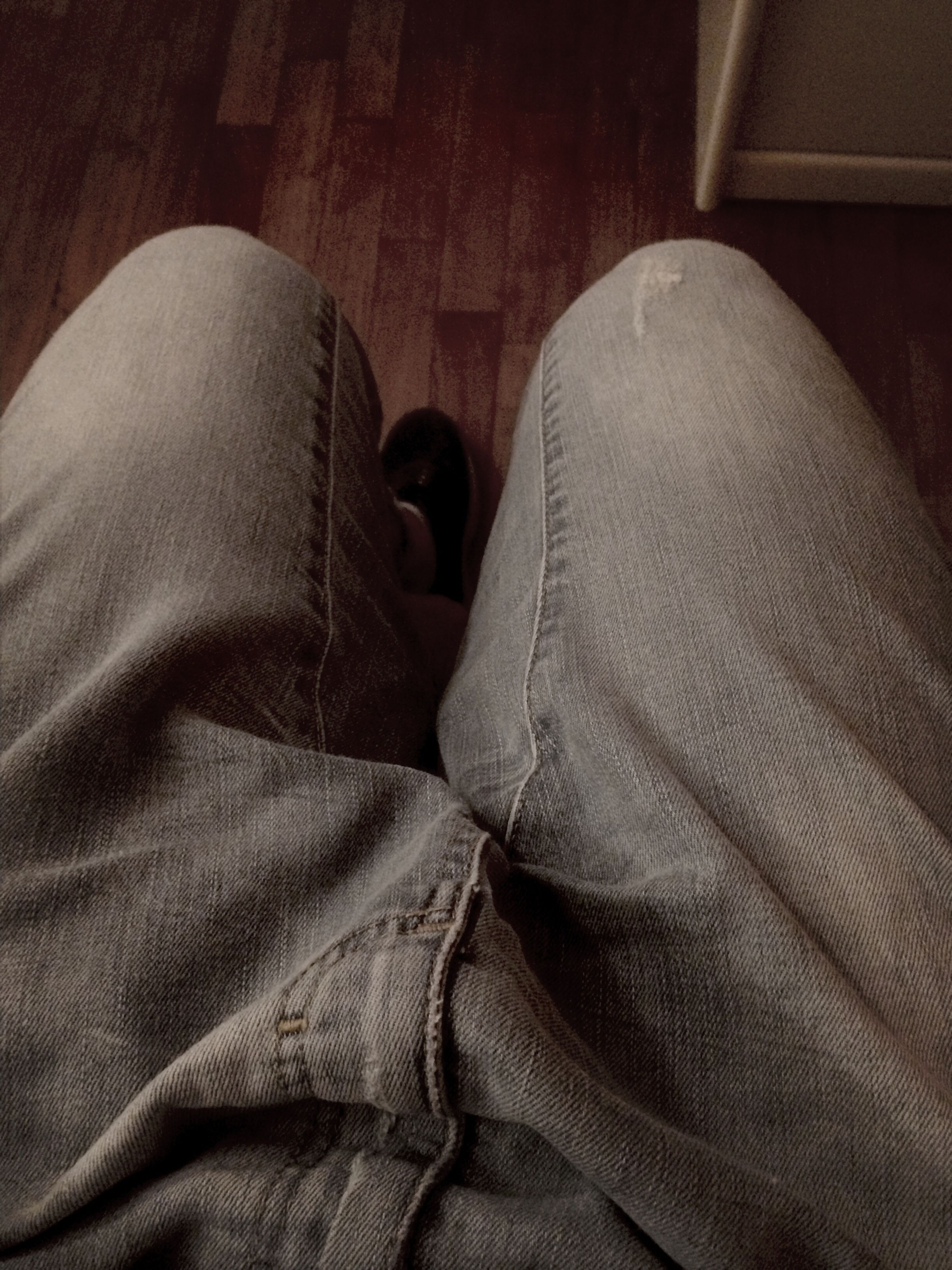 indoors, jeans, textile, fabric, high angle view, person, close-up, bed, low section, relaxation, shoe, sofa, clothing, men, comfortable, sheet, casual clothing, home interior