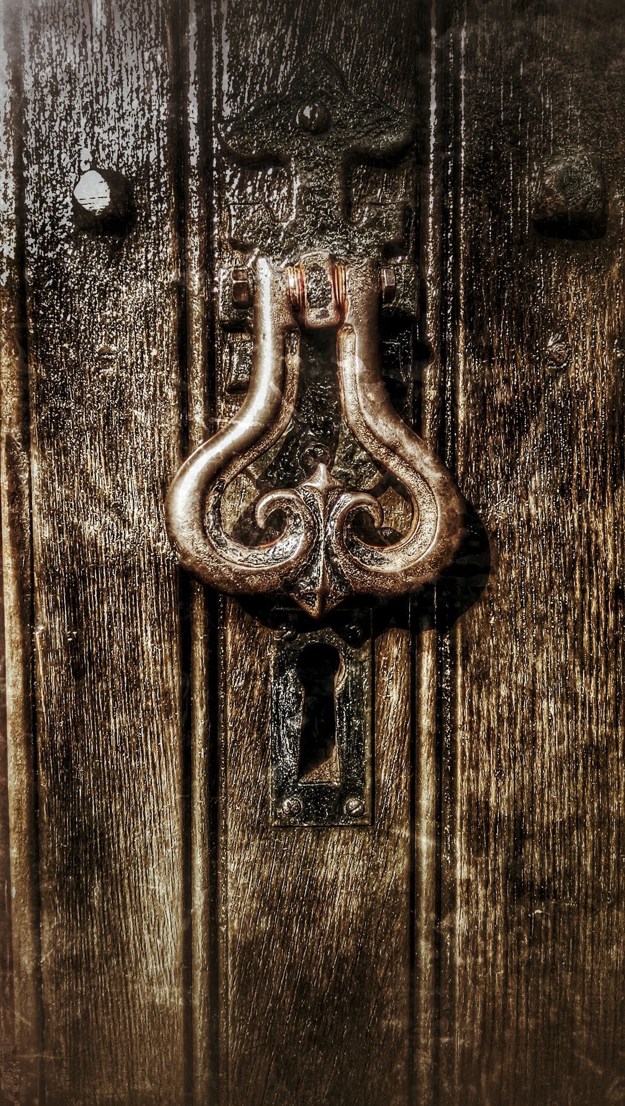 Church Door Old_door Door Knocker Dark Wood