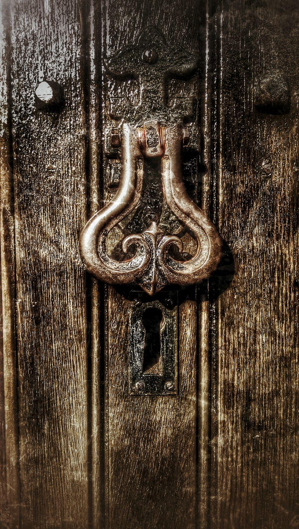 Church Door Old_door Door Knocker Dark Wood