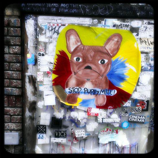 Street art on Rivington. Street Art