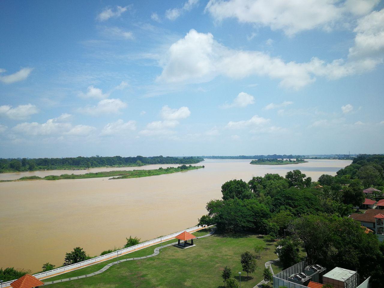 Pahang River Pahang, Malaysia Pahang River View Scenary Mobile Photography Clouds Sky Blue Sky River River Bank  Water Freshwater