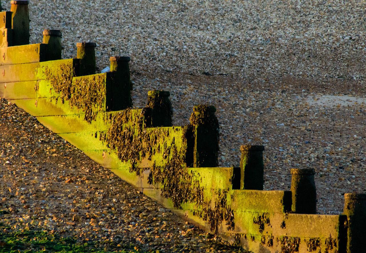 Beach Geometry Green Groyne Pattern Shingle Sunrise Whitstable