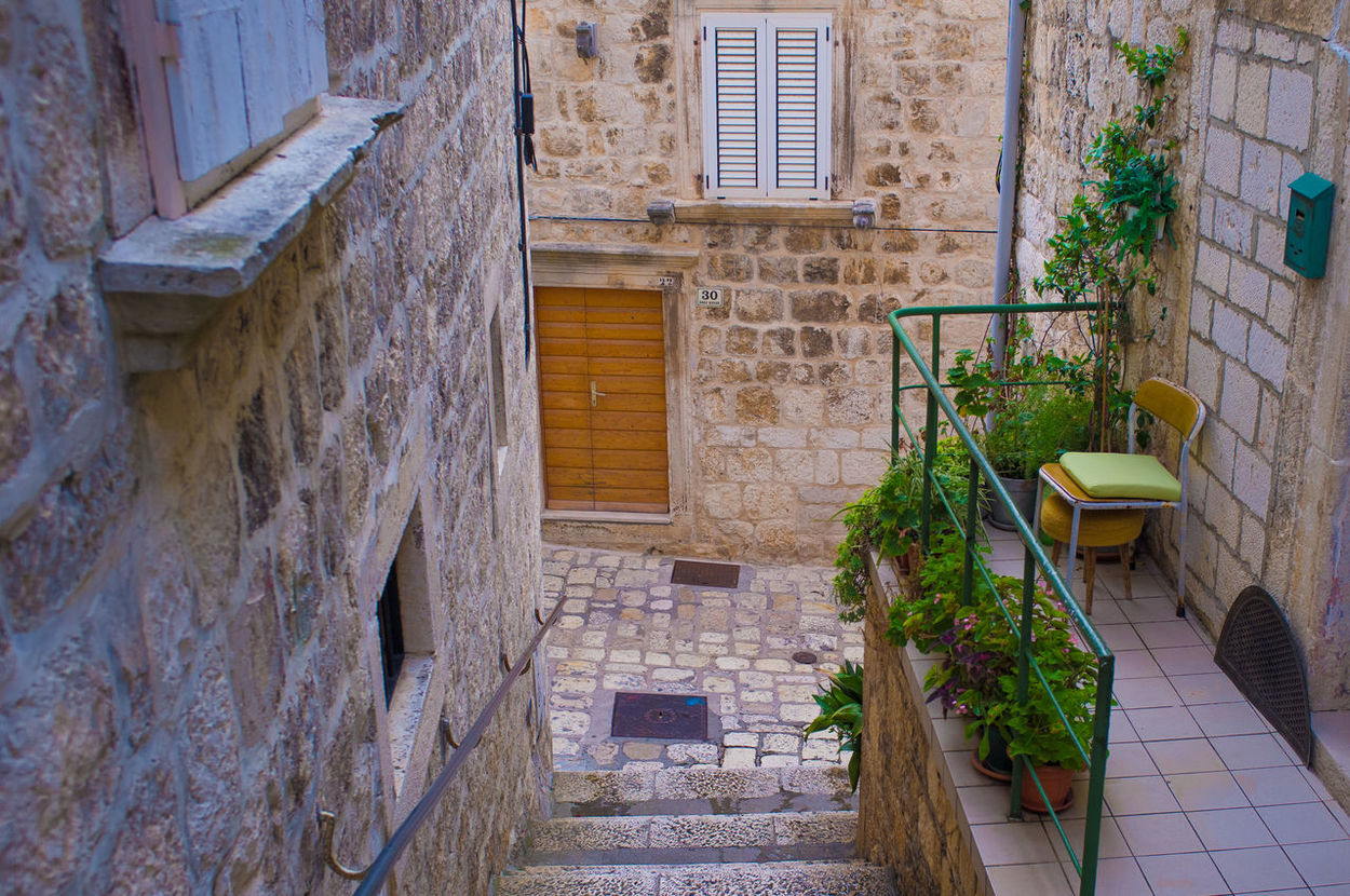 Architecture Built Structure Narrow Staircase Stairs Steps Steps And Staircases Street Wall Wall - Building Feature Window