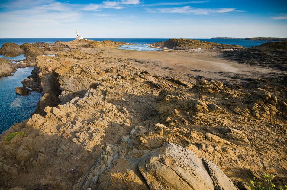 Beach Blue Sky Cap De Favaritx Cliffs Dog Es Grau Lighthouse Mallorca Menorca Nature Reserve Ocean Sea Sky Sunset Water