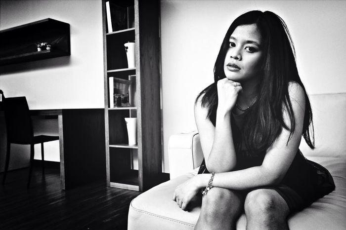 Angeline's so beautiful model Color Portrait Modeling Shoot Black And White Gergous