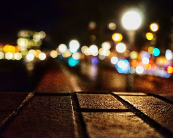 Night Illuminated No People Street Outdoors Built Structure Architecture City Road Building Exterior Close-up Tilt-shift Sky Portofhamburg Bokeh Photography Bokehlicious Night Lights