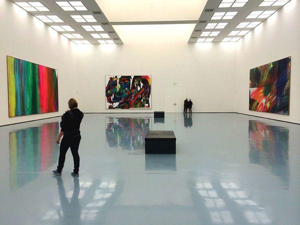 Visiting Museum Lonely Museum Art, Drawing, Creativity ArtWork Art Gallery Painting Modern