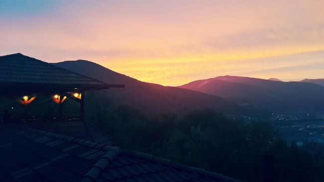Sun Set Ananuri Ananuri Restaurant View Landscape
