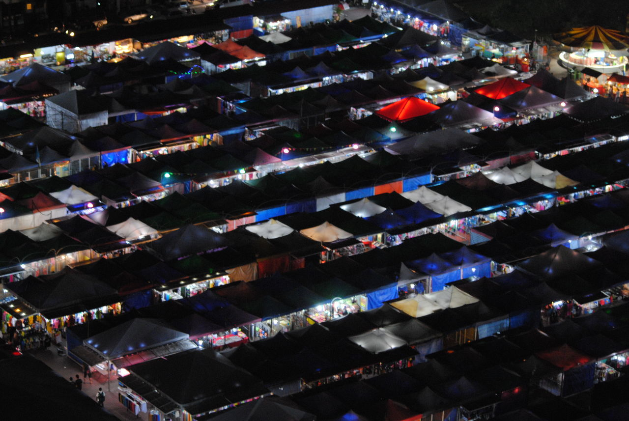 Aerial View Eye4photography  EyEmNewHere Gypsy Carnival Gypsy Tents High Angle View Shopping Tents Tents Shot From A High Angle V The City Light The Purist (no Edit, No Filter)