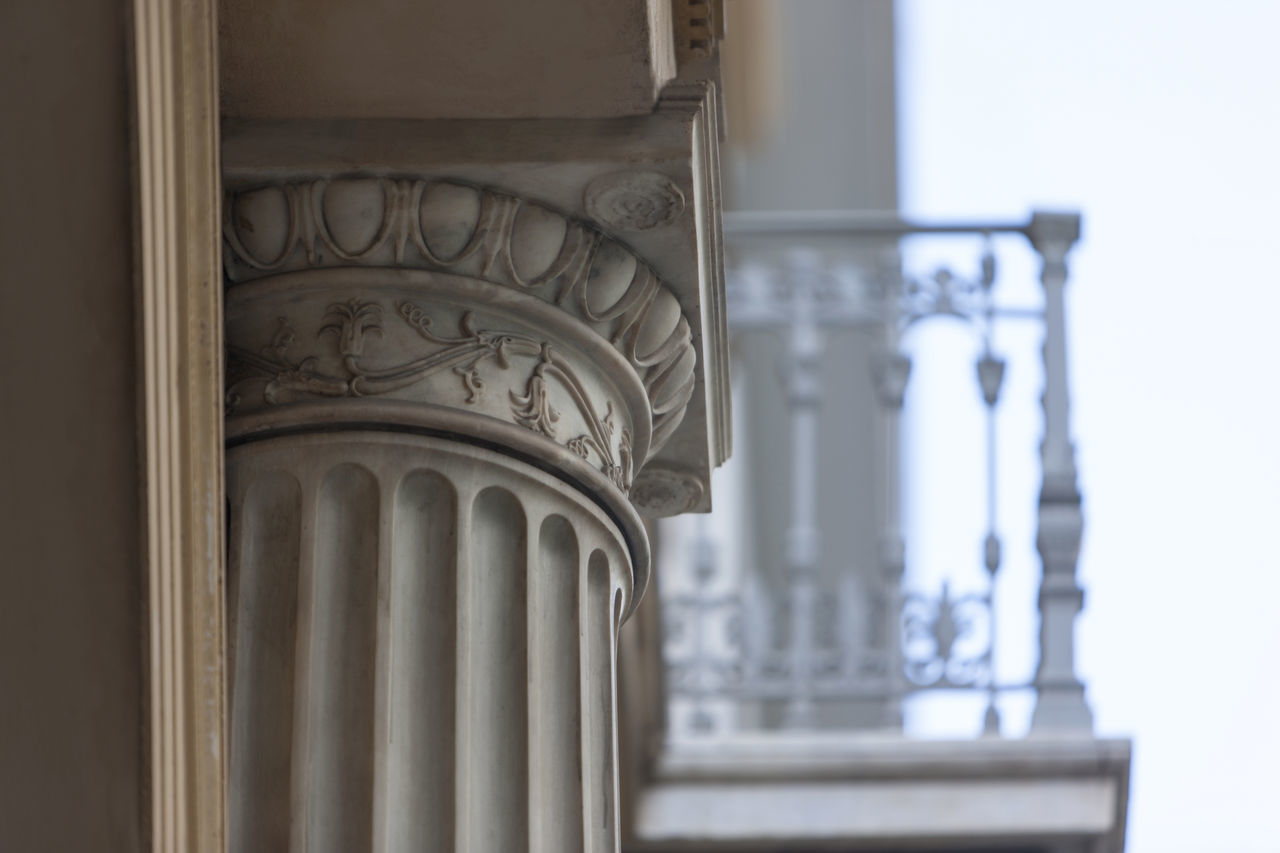 Architecture Athens Balcony Capital Close-up Column Day Greece Marble Neoclassical Neoclassical Architecture NeoClassicism No People Ornament