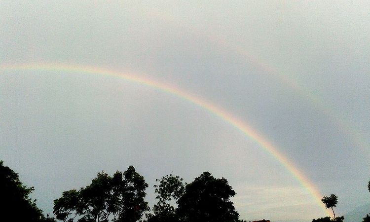 I found two rainbow at once but camera couldn't able to caught Amazing Nature