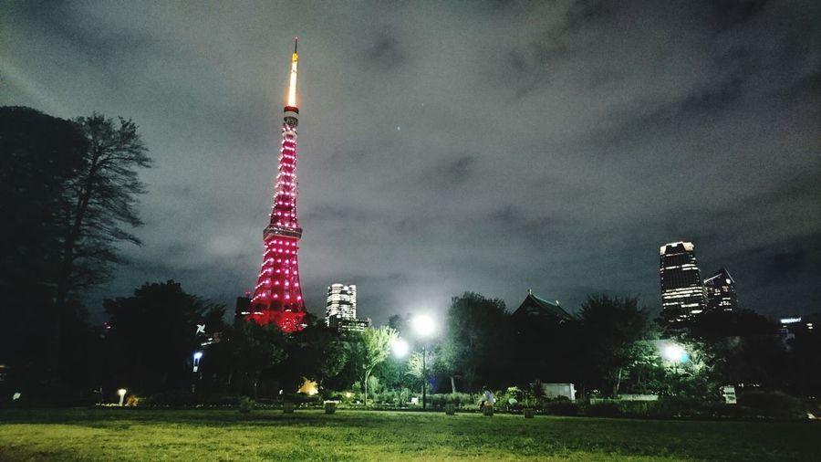 Tokyo Tower 増上寺 Zojojitemple 東京タワー Tokyo Sky Tower Midnight No People Night Shibapark 芝公園