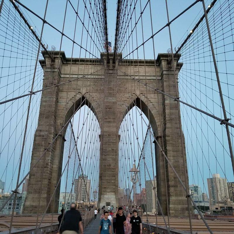 Brooklyn Bridge on a nice warm day First Eyeem Photo Brooklyn Bridge / New York Brooklyn Bridge  Brooklyn Brooklyn Nyc S8plus S8+ Galaxy S8+