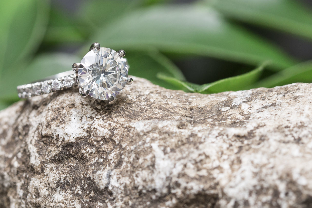 Close-up Diamond Diamond Ring Engagement Engagement Ring Jewelry Love No People Ring Rock Selective Focus Wedding