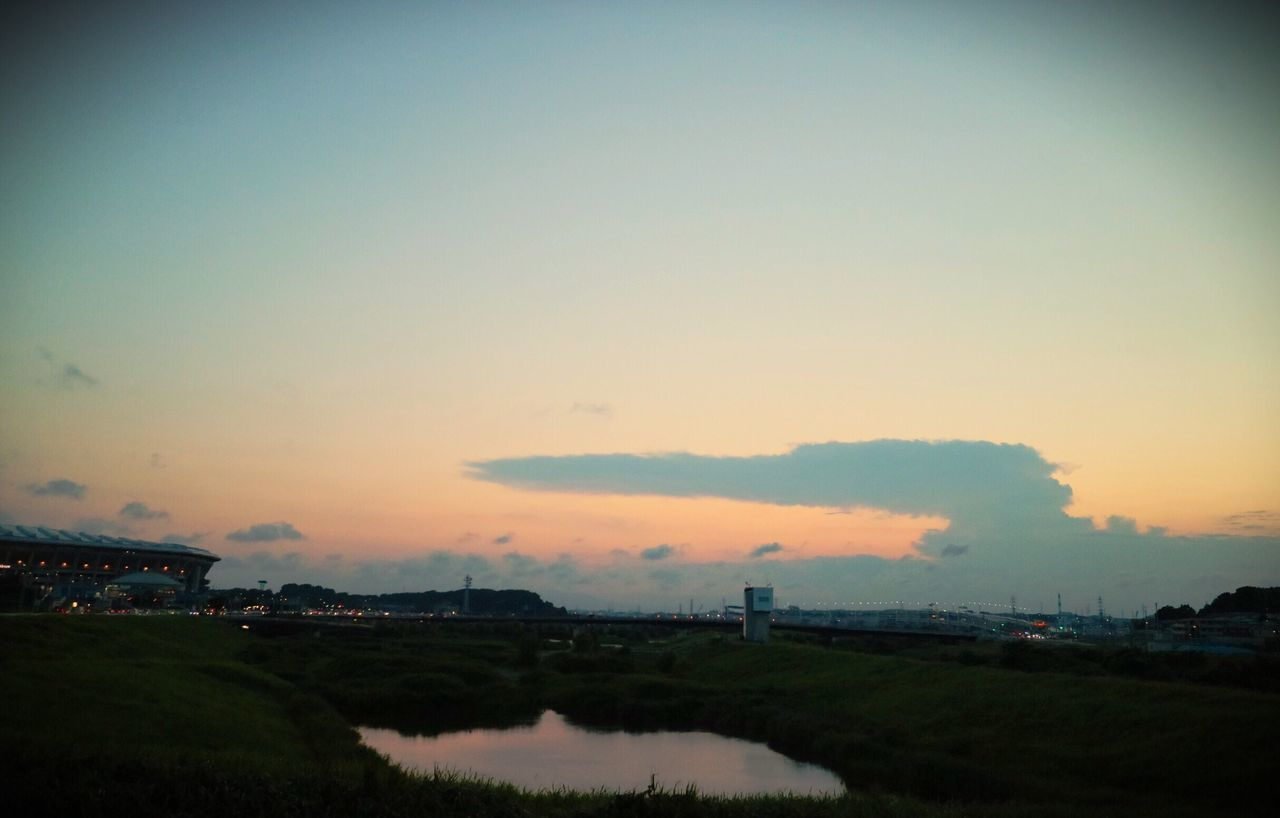 Sunset Pond River No People Built Structure Factory Architecture Outdoors Sky Landscape Industry Nature Water Building Exterior Scenics Smoke Stack Clear Sky Day Beauty In Nature EyeEmNewHere