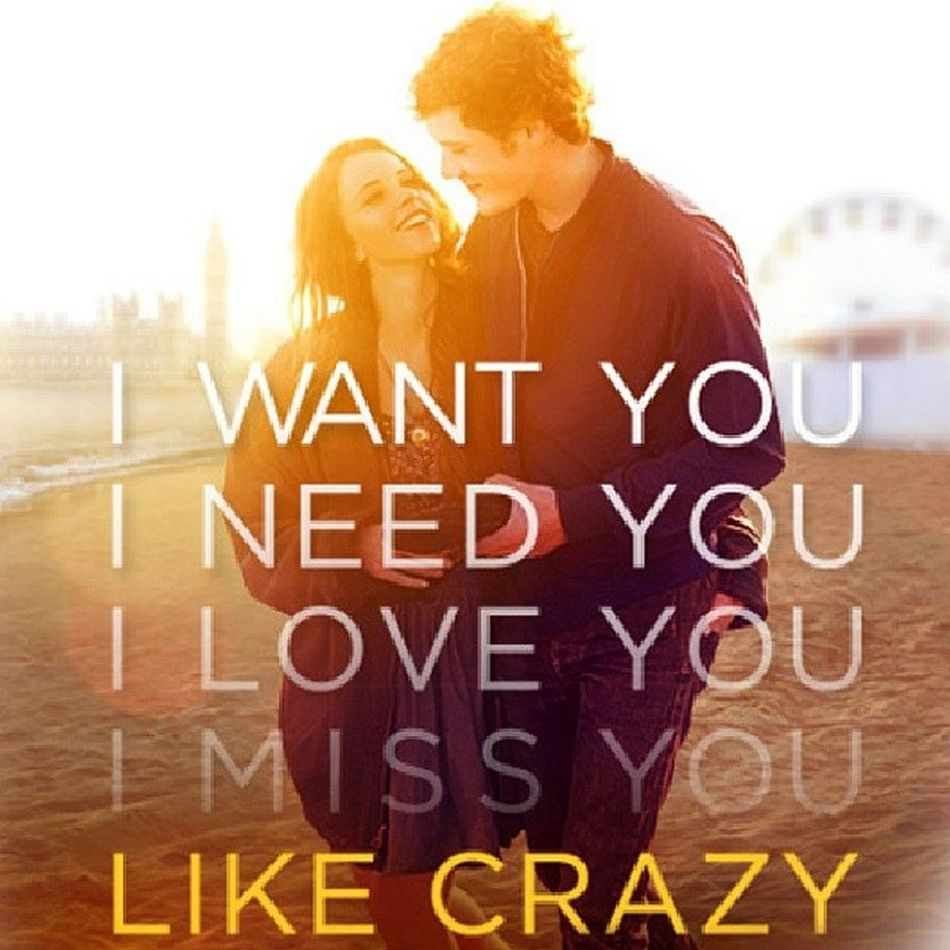 If you haven't seen this movie, you're missing out on something beautiful. Likecrazy Independentfilm Relationship Relationships longdistancerelationship longdistance love truelove sad hardships patience