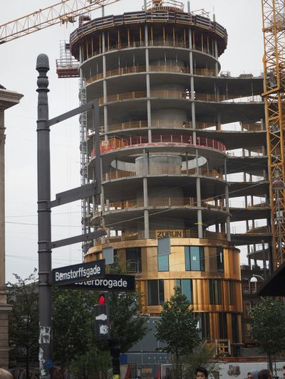Architectural Photography Axel Towers Lundgaardtranberg Architects Gold Construction Site Facades New Architecture High Rise Round Building