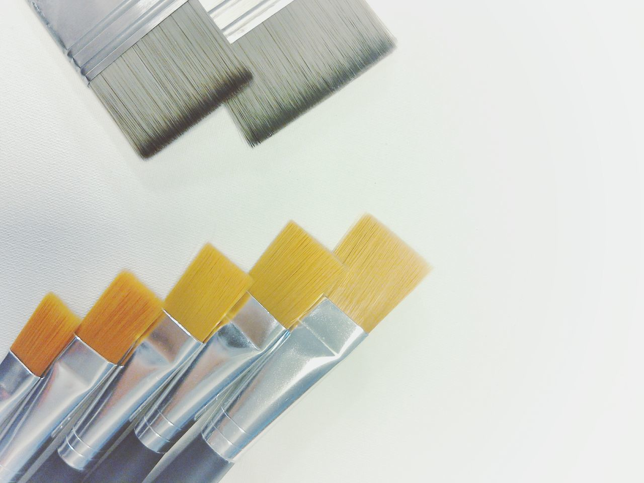 Paint Brush Set Canvas New Variation No People Close-up White Background Painting Tools Lieblingsteil