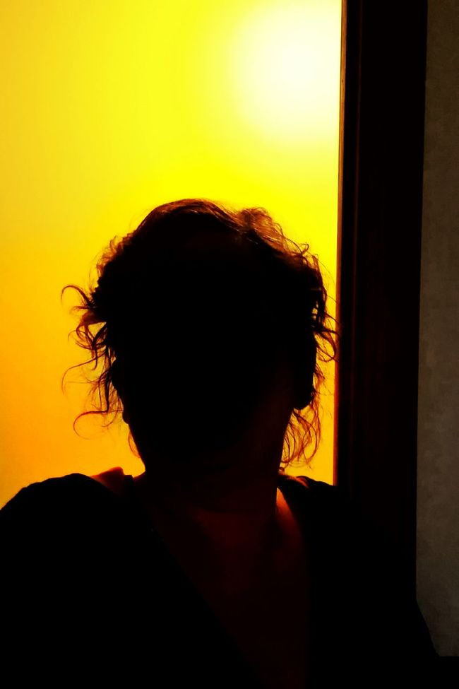 great day in the morning! Morning Early Morning Silhouette Orange Yellow Light And Shadow Darkness And Light Electric Wild Hair Hairstyles Let Your Hair Down The Portraitist - 2016 EyeEm Awards Colour Of Life Home Is Where The Art Is Pivotal Ideas Color Palette Shadowplay