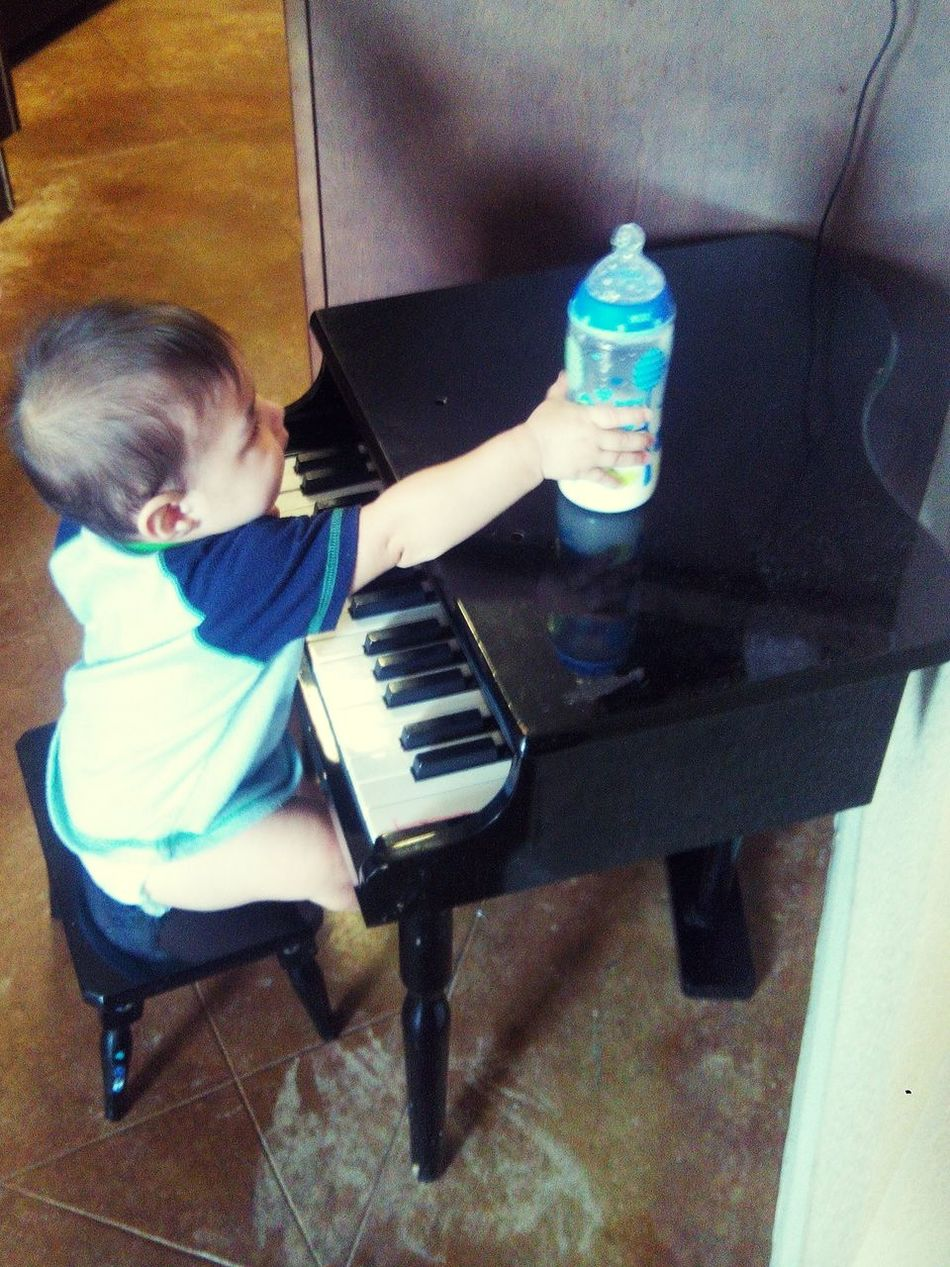 Sound Of Life Check This Out Hello World Musuc ♬♬♬ Music Musician 8 Months Old ! Prodigy The Sound Of Music Talent