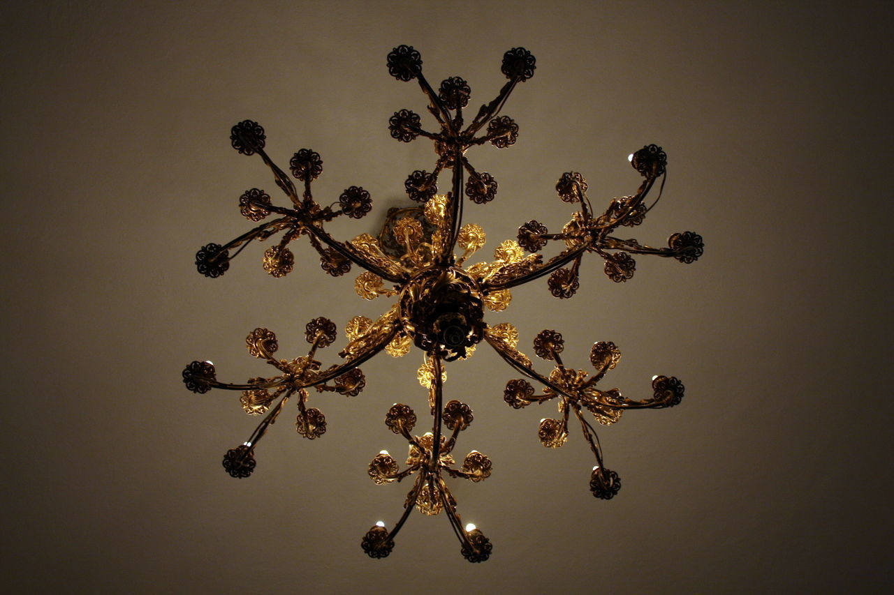 Chandelier Chandelier - Detail Chandelier Light In The Castle Lights Lights And Shadows Pozsony Slovakia