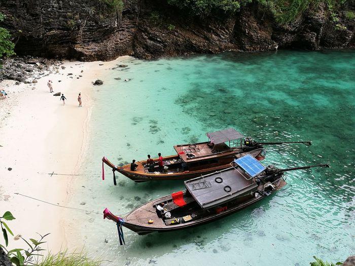 มุมที่แตกต่าง Poda Island Krabi Thailand Travel High Angle View Adventure Nature Beach Rayavadee Beautiful First Eyeem Photo