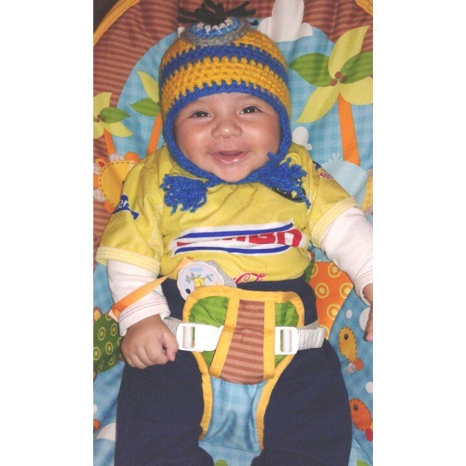 El ya esta listo para ver la final Americavstigres CA Baby Champions winners happy beautifulsmile bigboy smile sunday sport soccer