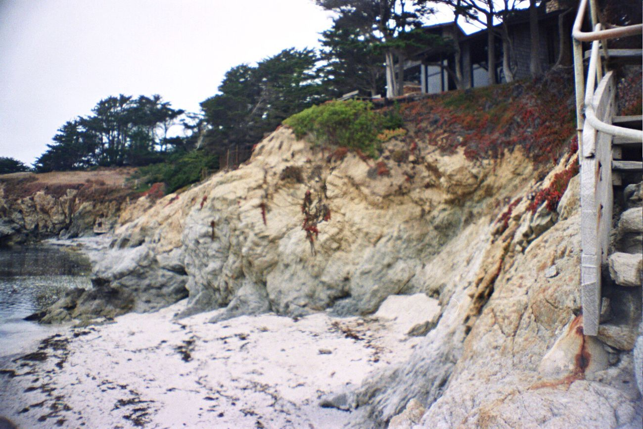 Carmel Highlands Nature Outdoors Sand Film Koduckgirl La Sardina Portra800 Rock