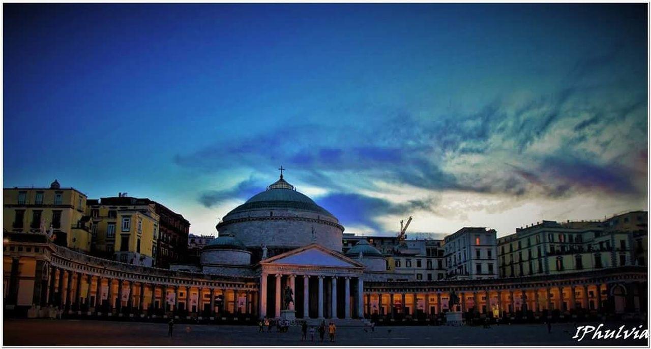 Piazzadelplebiscito Ilovenapoli Famous Place City Architecture Cloud - Sky City Life Blue First Eyeem Photo
