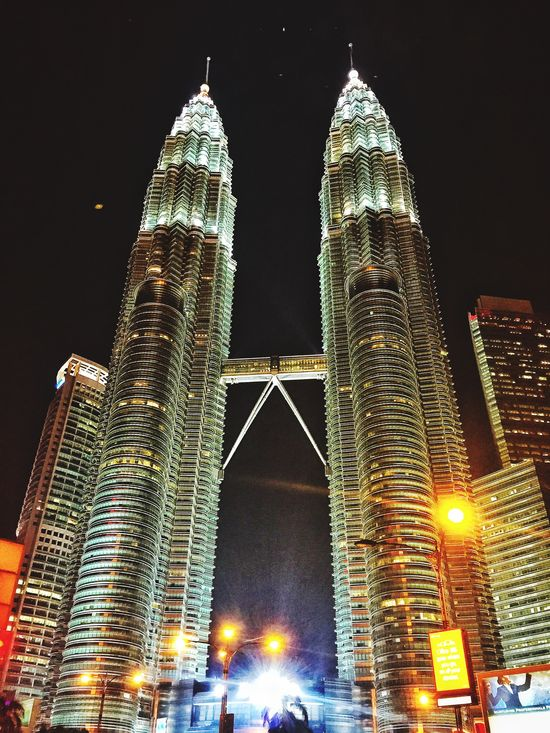 The Magnificent Beauty Human Made Steel Structure  the Petronas Twin Towers , Klcc . Proud to be Malaysian !!!