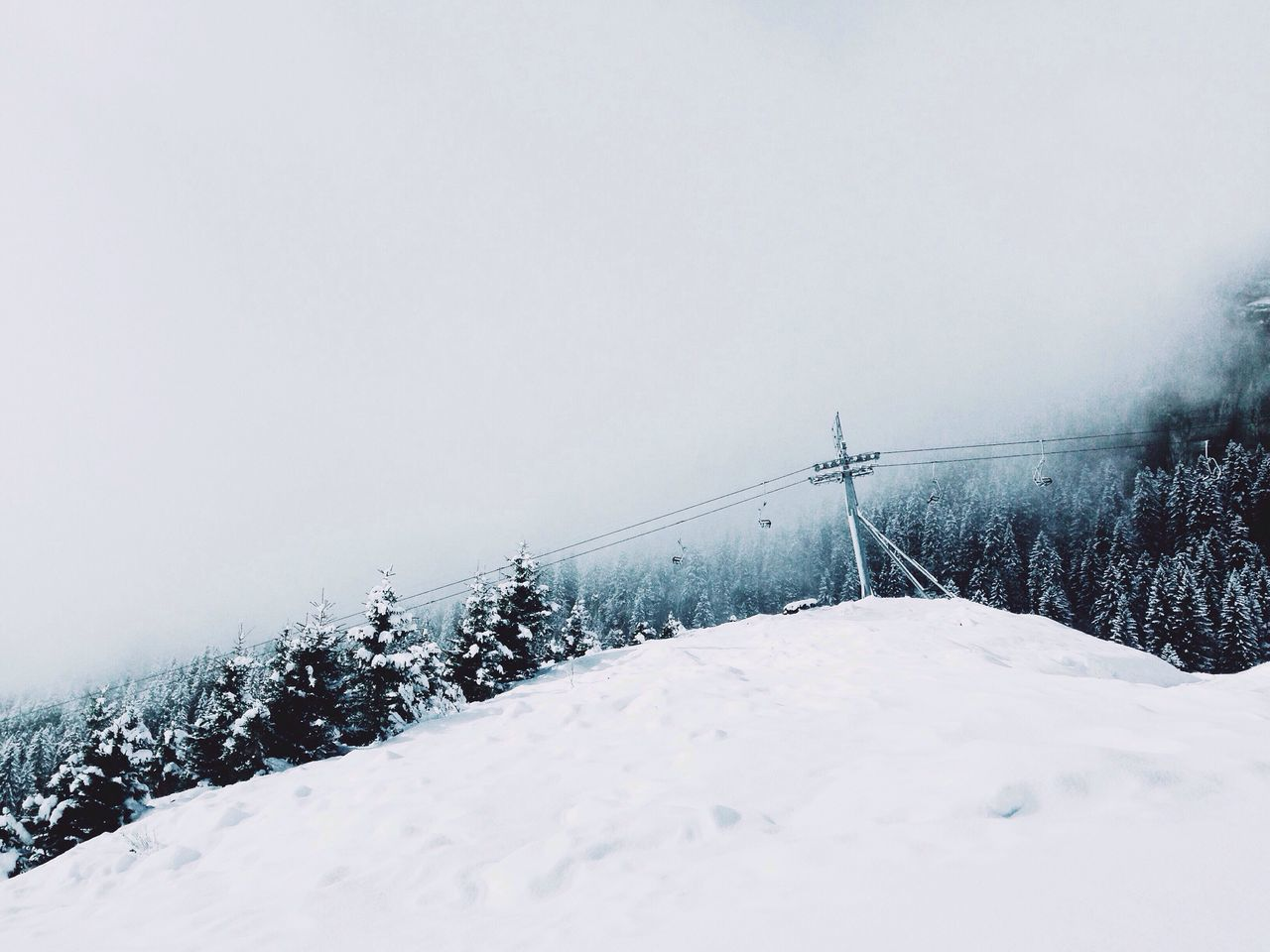 Snow Winter Cold Temperature Weather Nature Frozen Beauty In Nature Tranquility No People Tranquil Scene Outdoors Tree Day Sky Ski Minimalism