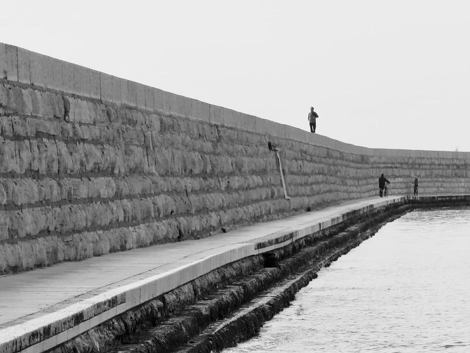 Black And White Blackandwhite Blackandwhite Photography Clear Sky Day Full Length Landscape Landscape_Collection Men Nature One Person Outdoors People People And Places Real People Seascape Sky Standing The Week On EyeEem The Week On Eyem Travek Travel Travelling Walking Water