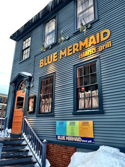 Getting my Carribean on during the last snow fall. Portsmouth Blue Mermaid New England  NH Seacoast IPhoneography Restaurant EyeEm Best Shots