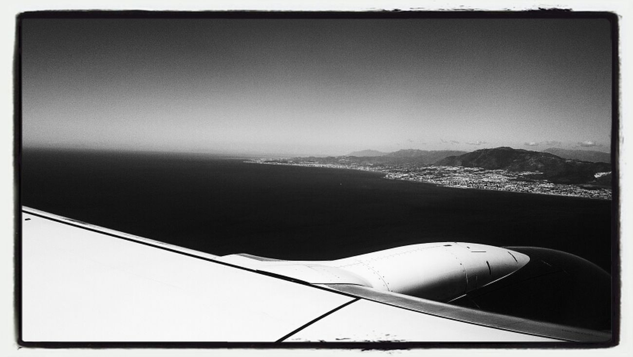 Starting A Trip EyeEm Skyline Blackandwhite Airplane Sky Holiday Barcelona Clouds And Sky From An Airplane Window SPAIN Horizons Ocean Great Views Skyporn Malaga Trip Photo Sky_collection