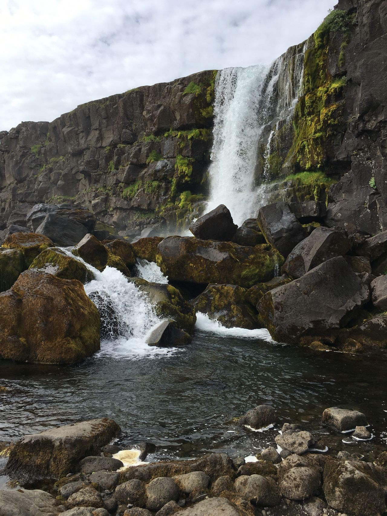 Scenics Low Angle View Beauty In Nature Outdoors Rock - Object Thingvellir National Park Thingvellir Waterfall Water Rocks Rocks And Water Nature Iceland Icelandic Nature