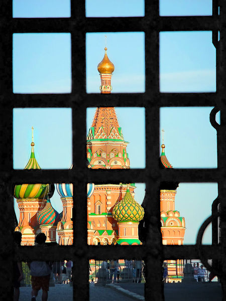 Architecture Bar Barred Window Built Structure Moscow No People Place Of Worship St Basil's Cathedral Window