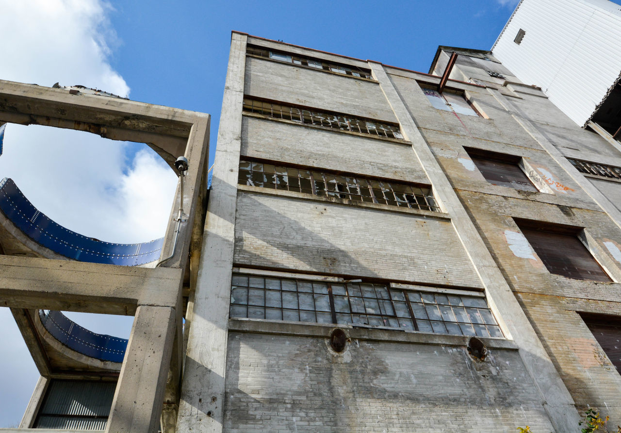 Low Angle View Of Old Abandoned Building
