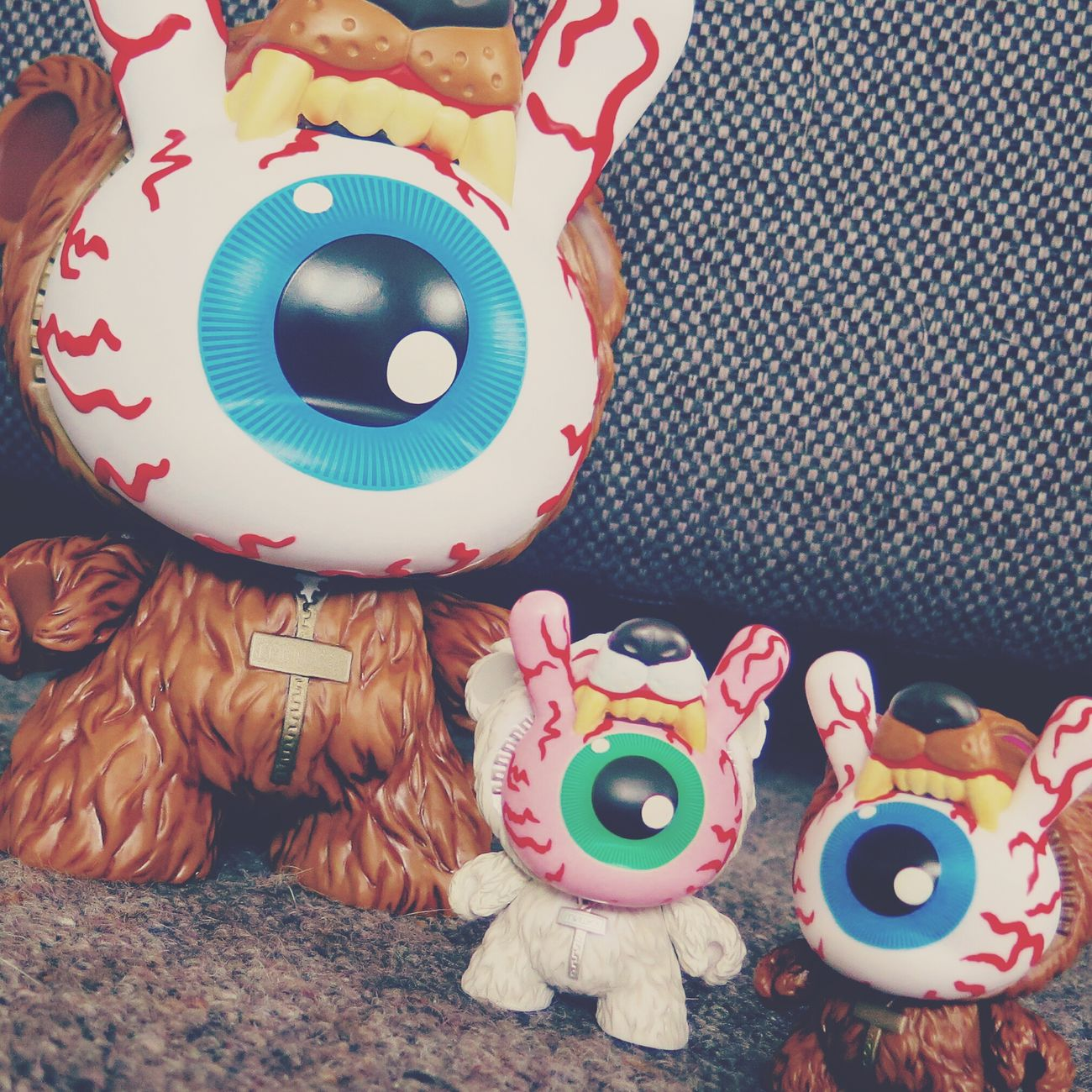 "Mishka Keep Watch 3"" & 8"" Dunnys. New additions to Mydunnycollection"