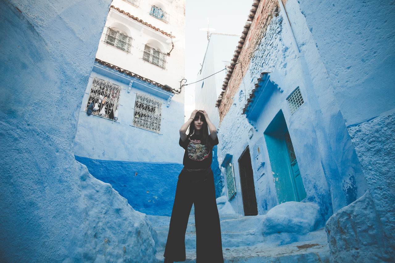 Maiden in Chefchaouen Beautiful Light EyeEmNewHere Blue Chefchaouen City Life Cityscapes Female Female Model Girl Happiness Hippie Iron Maiden Lifestyle Lifestyle Photography Model Morocco Ontheroad Street Streetphotography Travel Traveling Urban Urban Landscape Urban Lifestyle Young Adult