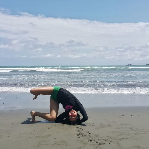 Alternative Fitness Headstand Yoga Beach Itsmorefuninthephilippines Baler Philippines Live For The Story
