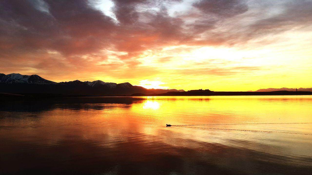 Amanecer Patagonia Argentina Paisaje Landscape Sol Sun Mountains Lago Lake Ushuaïa Canal De Beagle