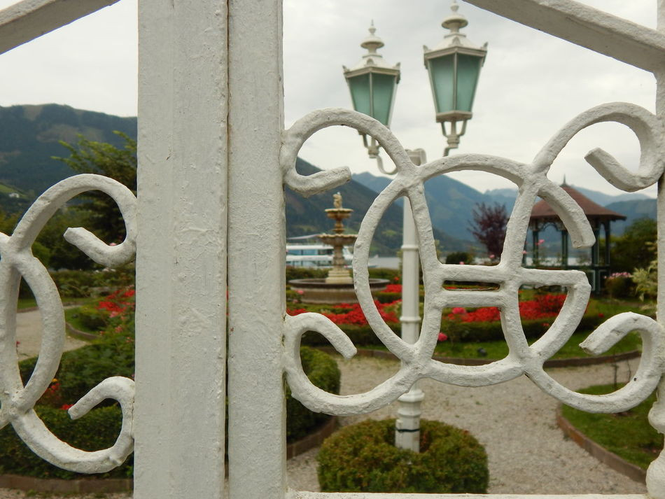 Close-up Day Gate Gates No People On The Edge Of A Mountain On The Edge Of The Lake Ornate Outdoors White Gate