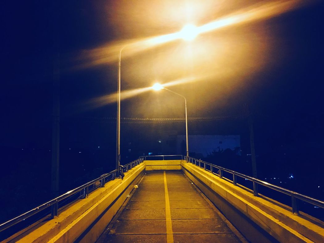 Illuminated Transportation Night The Way Forward No People Outdoors Road Electricity  Sky Architecture Astronomy