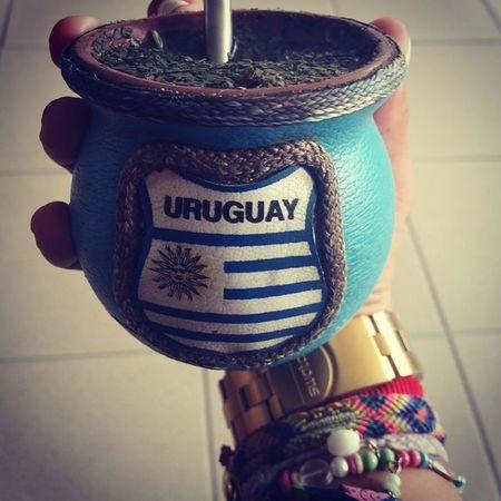 Mate Uruguaya Celeste Drinkmate Matéamigo Compañero Green Yerba Mate 💃💃💃💃 Morena Yerbamate Greentea 😍😌😊 Uruguaynatural 😚 😚
