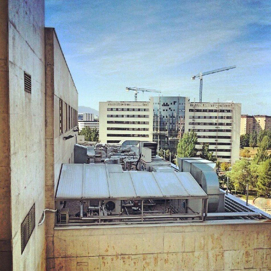 La construcción del edificio nuevo de consultas externas del hospital universitario araba avanza a toda leche