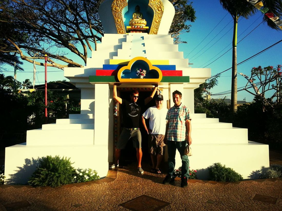 Enjoying Life Hanging Out Hello World three of my good friends Matty Mike and Thomas this photo was taken a year and six months ago photo was taken in Paia at a buddest temple in paia