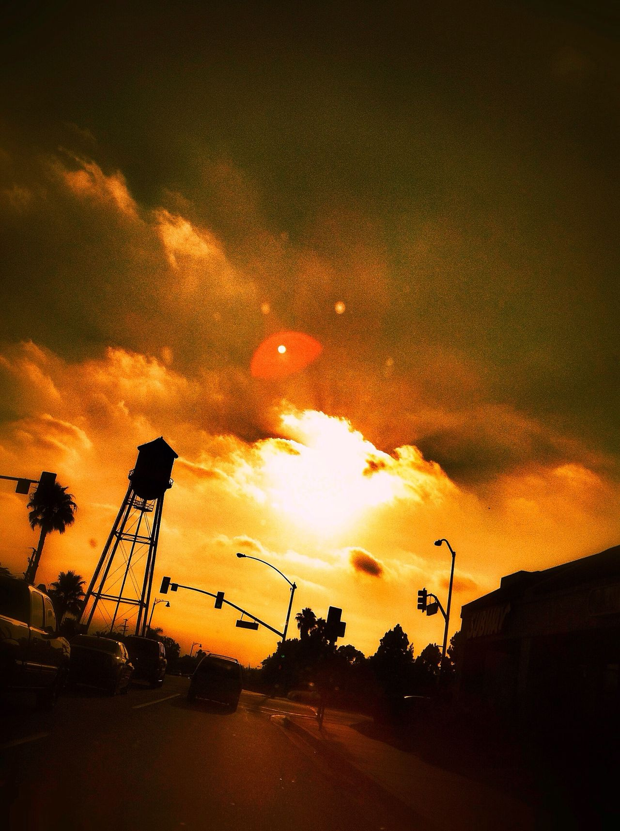 You radiate my soul... Sunset Drive By Shooting Water Tower Sunsetdreams