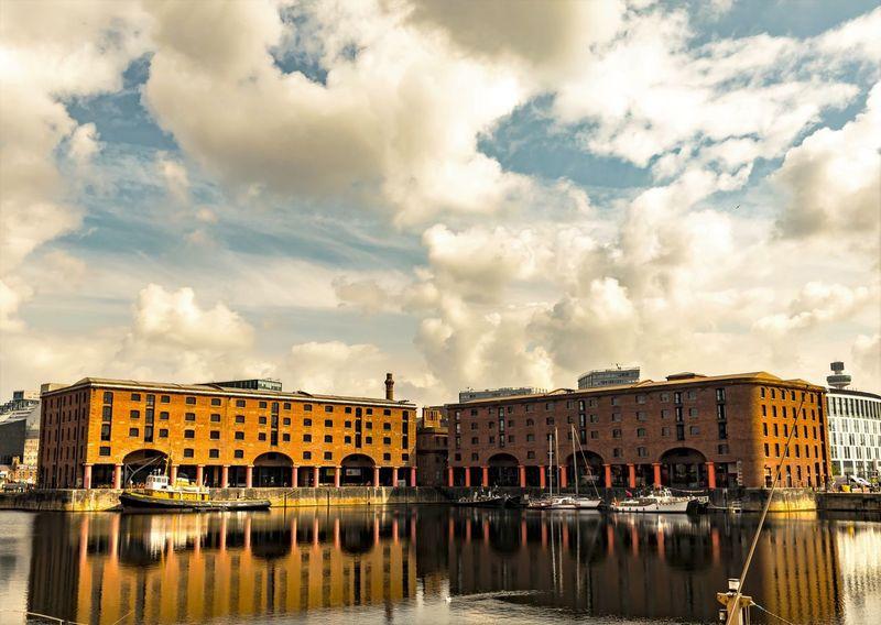Albert Dock Albert Docks Liverpool Docks Liverpool, England Merseyside Waterfront Pier Head Docks Buildings & Sky