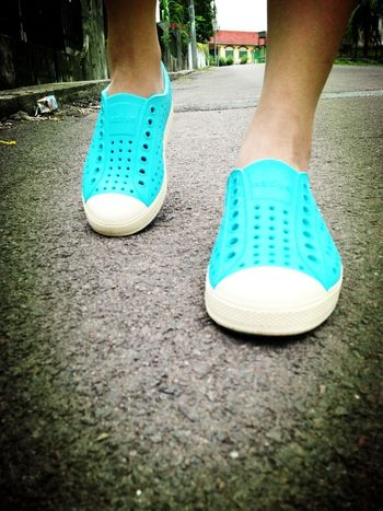 Don't quit. Suffer now and live the rest of your life as a champion Shoes Native New Sneakers Light Blue