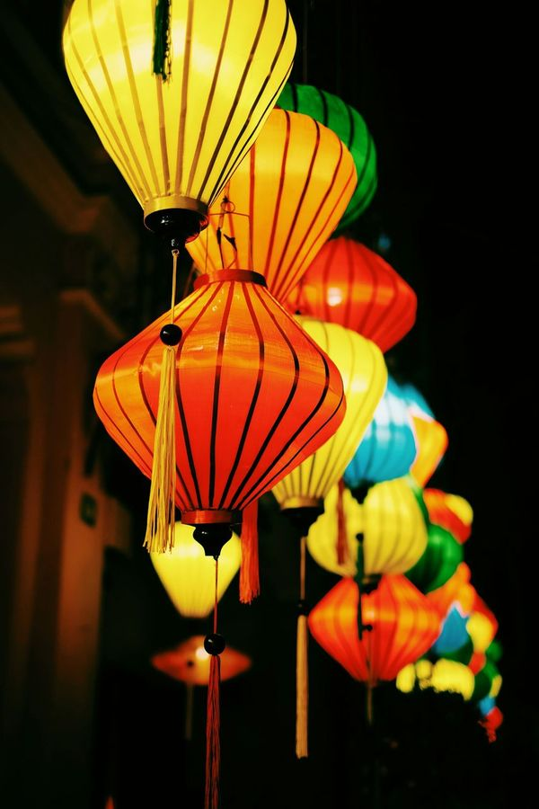 Orange Color Lantern Red Hanging No People Chinese Lantern Close-up Travel Destinations Vacations Lights Illuminated Celebration Celebration Event Vietnamese Culture Vietnamese Lantern